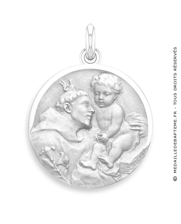 Médaille Saint Antoine de Padoue  - medaillle bapteme Becker