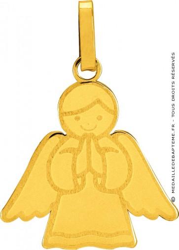 Pendentif Ange Auréolé or jaune 9 carats