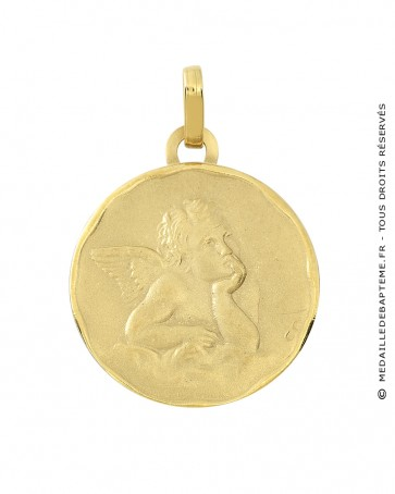 Médaille Ange Gardien Raphael (or jaune)