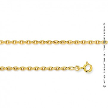 Chaine forçat Or jaune 9 carats