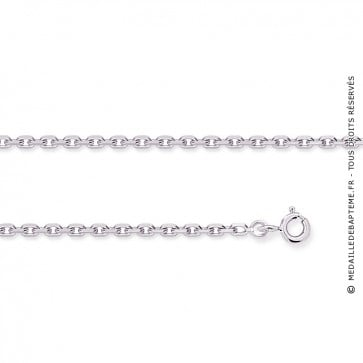 chaine forçat or blanc 18 carats