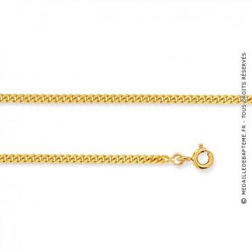 Chaine gourmette diamantée 40cm - 1,4mm (Or Jaune 9 carats)