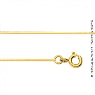 Chaine serpent or jaune