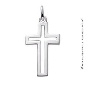 Pendentif Croix ajourée (Argent)