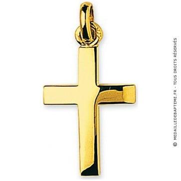 Croix Bombée (Or Jaune)