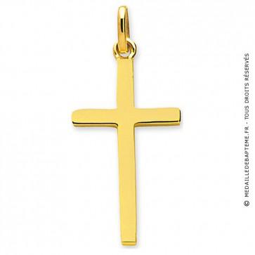 Pendentif croix fil carré