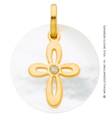 Médaille Nacre Croix et Diamant (Or Jaune)