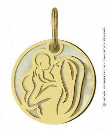 Médaille Maternité Or et Nacre (Or jaune)