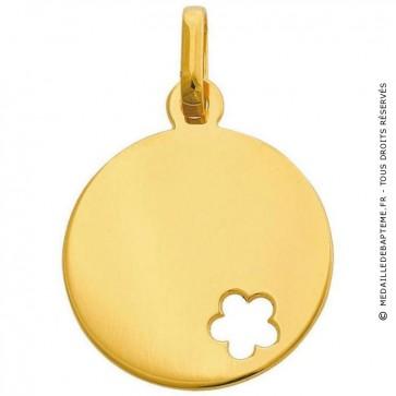Médaille jeton fleur ajourée (Or jaune)