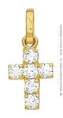 Croix Assortie de Brillants (Or Jaune)