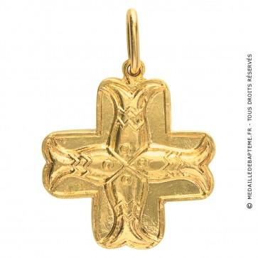 Croix aux Poissons (Or Jaune)