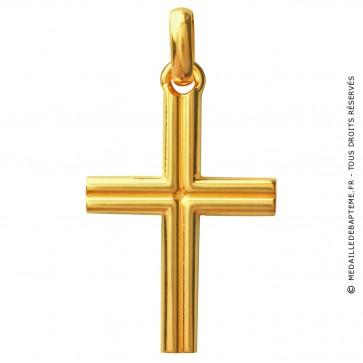 Croix Godronnée (Or Jaune)