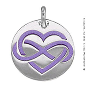 Medaille Amour Infini (Or Blanc)