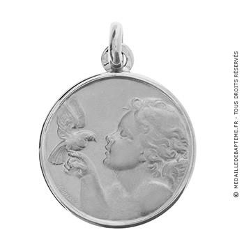 Médaille Ange et Colombe (argent)