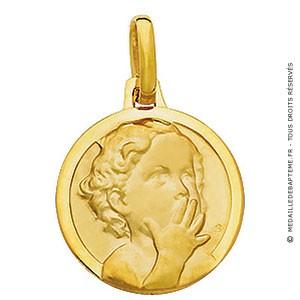 Médaille Ange Chérubin_ Le baiser (Or Jaune)