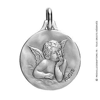 Médaille Ange Augis (Or Blanc)