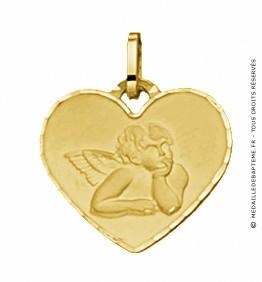Médaille Ange Cœur (Or Jaune)