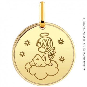 Médaille ange dans les cieux (Or Jaune 9K)
