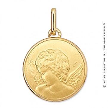 Médaille Ange de profil (or jaune)