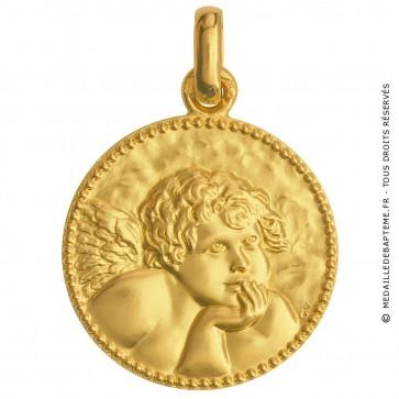 Médaille Ange de Raphael (Or Jaune)