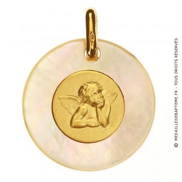 Médaille Ange Or et Nacre