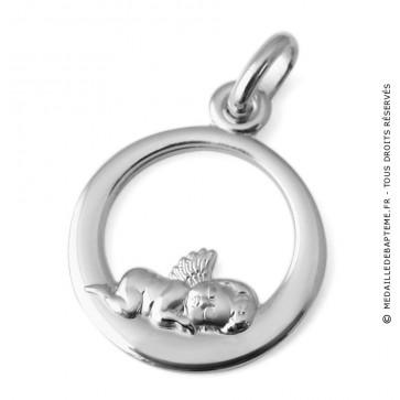 Médaille Ange endormi ajouré (Argent) Martineau