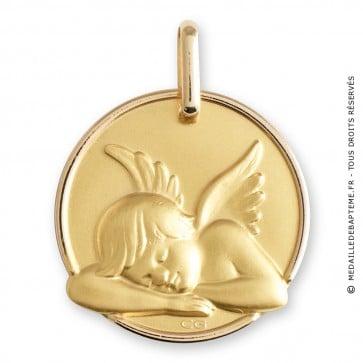 Médaille ange endormi (Or Jaune)