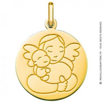 Médaille Ange à l'Enfant (Or Jaune 9K)
