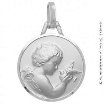 Médaille Ange et Colombe 18mm (Argent)