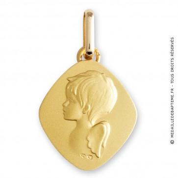 Médaille ange losange (Or Jaune)