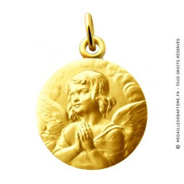 Médaille ange méditatif Martineau (Or Jaune)