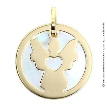 Médaille Ange Nacre ( Or Jaune)