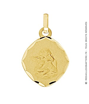 Médaille Ange Ovale (Or Jaune)