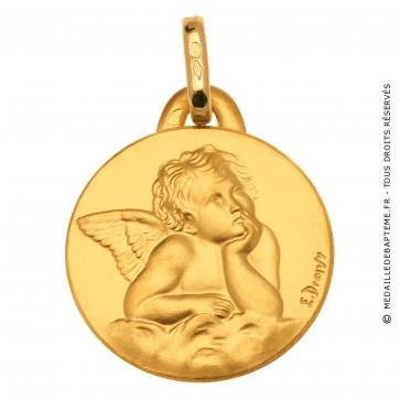 Médaille Ange Pensif Raphael (Or Jaune)