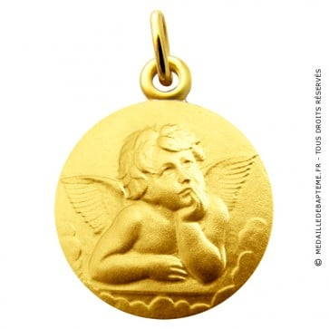 Médaille Ange Pensif Raphael Martineau (Or Jaune)