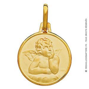 Médaille Ange Raphael (Or Jaune)