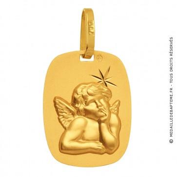 Médaille Ange rectangle étoilé