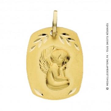 Médaille Ange Rectangle