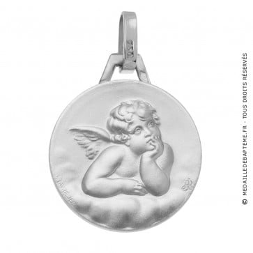 Medaille ange or blanc