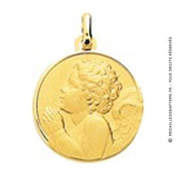 Médaille Ange en prière (Or Jaune)