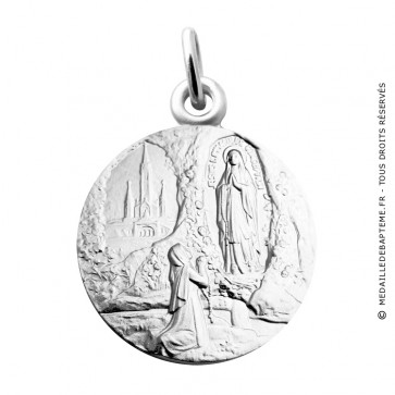 Médaille Apparition Notre Dame de Lourdes Martineau (Argent)