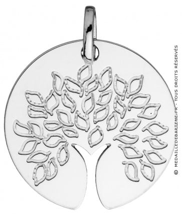Médaille Arbre de Vie tronc ajouré (Or blanc)