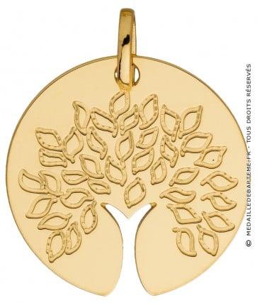 Médaille Arbre de Vie tronc ajouré (Or jaune)