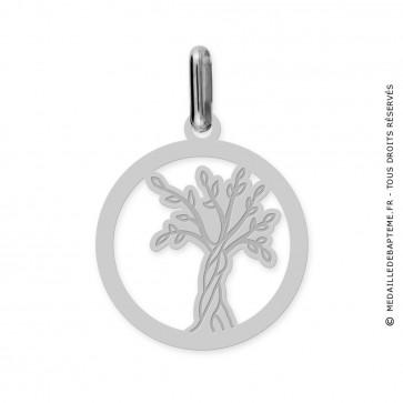 Médaille Arbre de Vie ajourée (Or blanc 9k)