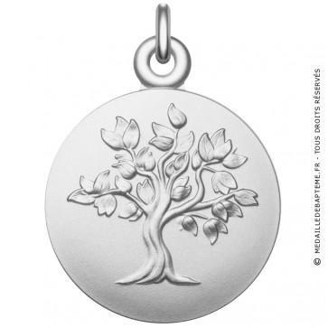 Médaille arbre de vie en argent massif