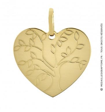 Médaille Coeur arbre de Vie (Or jaune)
