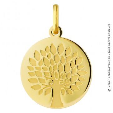 Médaille Arbre de Vie graphique (Or Jaune)