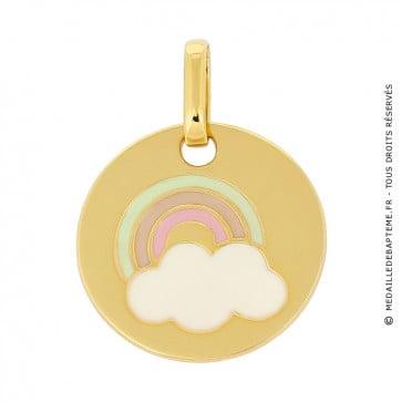 Médaille jeton arc-en-ciel laqués (or jaune)