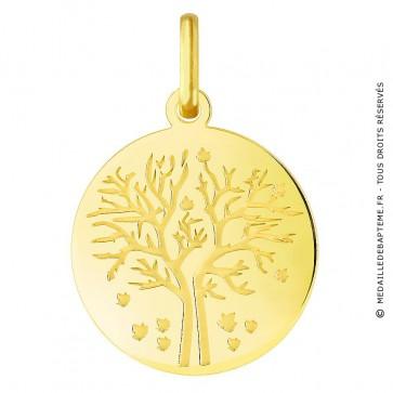 Médaille Arbre de la Vie les 4 saisons : automne (Or Jaune)