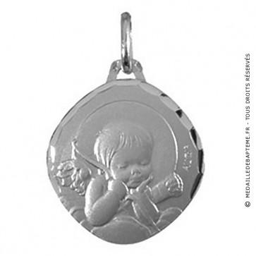 Médaille Augis Ange au carquois (Or Blanc)